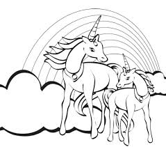 Unicorn Coloring Pages For Kids S Printable Jokingart