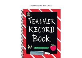 Teacher Record Teacher Record Book Pdf