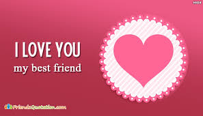 I Love My Best Friend Quotes Amazing I Love You My Best Friend FriendsQuotationCom
