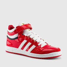 adidas men s concord ii mid patent leather scarlet white
