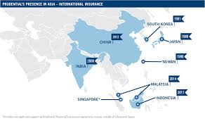 prudential launched its first asian life insurance business in an in 1988 since expanding to