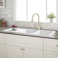 outstanding white drop in kitchen sink including tansi double bowl collection ideas with drain board prime