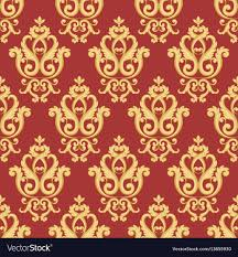 Gold Damask Background Seamless Damask Pattern Gold And Red Texture