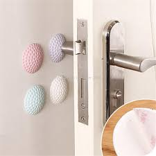 pack 8 door handle stop per wall protector self adhesive stopper rubber wall shield anti
