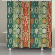 laural home green ikat shower curtain 71 inch x 74 inch