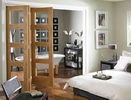 Oak 4 light clear glass Folding Internal Door - contemporary - interior  doors - Savoy
