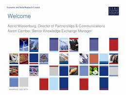 ESRC Knowledge Exchange Opportunities