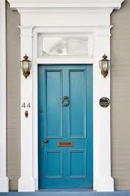 door. Denim Blue Door