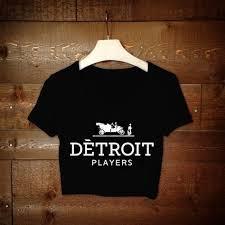 Detroit Players Crop Top Black / Bon | P R E T T Y W O M A N | Black ...