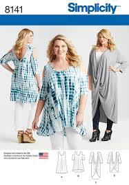 Plus Size Patterns Stunning Simplicity Simplicity Pattern 48 Plus Size Knit Tunics And Mini Dress