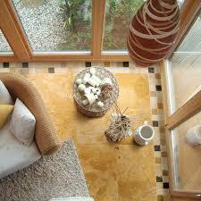 24x24 gold travertine tile