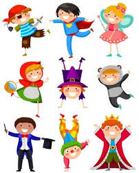 halloween costume clip art. Simple Clip Set Of Kids Wearing Different Costumes Throughout Halloween Costume Clip Art I