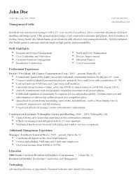 Sample Resume For Construction Manager Resume For Study