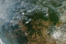 Incendio del Amazonas visto desde el espacio.