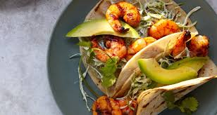 grilled shrimp tacos with pickled