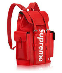 supreme leather red louis vuitton backpack supreme leather red louis vuitton backpack at low snapdeal