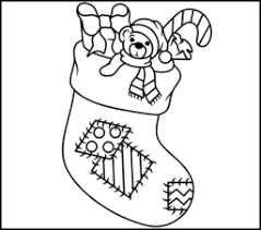 Small Picture Christmas Stocking Coloring Page Printables Apps for Kids
