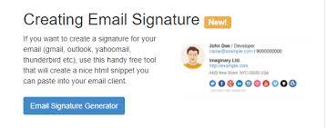 Email Signature Html Best Email Signature Generators Free Premium Tools