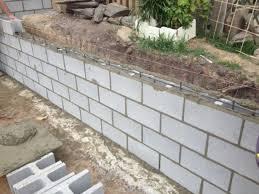 concrete block retaining wall design concrete block retaining wall inside adorable how to build a concrete