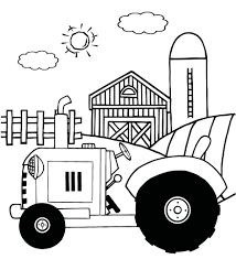 Small Picture Tractor Coloring Pages For Kids To Print