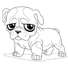 Small Picture Little Pug Sad Face Coloring Page Color Luna