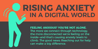 Rising Anxiety In A Digital World Infographic Nwpc