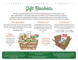 our custom gift baskets filled with local goos make great holiday and corporate gifts check out the details below and email gifts swrabbitcafe