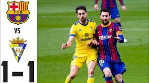 Barcelona VS Cadiz | 1-1