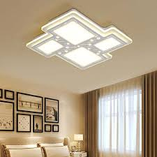 ceiling lighting living room. Ceiling Lamps-- Simple Modern LED Square Geometric Acrylic Lights Living Room With Warm Lighting