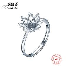 3pcs sterling silver eight diamonds flower simple ring settings whole diy pearl ring findings ugkf35458