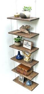 How High To Hang Floating Shelves Gorgeous Hanging Floating Shelves Hang Shelf Without Nails Hanging Shelves