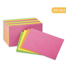 Index Card 3x5 Index Cards 3x5 Inch Heavy Weight Ruled Index Card Index Cards Great For Notes Organizing Flash Cards Lists Recipes And More 500 Cards