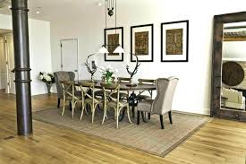 decorative area rug under dining table