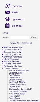 Careers2Geaux link at the left hand side menu