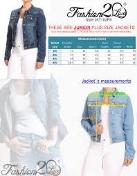 Women S Plus Size Measurement Chart Details About Jkt102ps Womens Plus Size Premium Denim Jackets Long Sleeve Loose Jean Coats