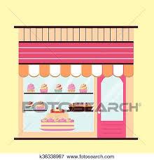 Bakery Facade View Clip Art K36338967 Fotosearch