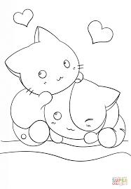 かわいい猫 ぬりえ