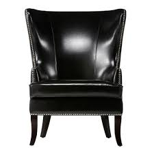Accent Wingback Chairs Home Decorators Collection Moore Black Wing Back Accent Chair