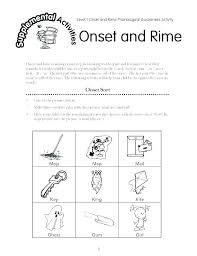 Activity Worksheets For Grade 1 Onset And Rime Worksheets Year 1 ...