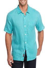 tommy bahama short sleeve sea glass breezer shirt lagoon water men shirts casual