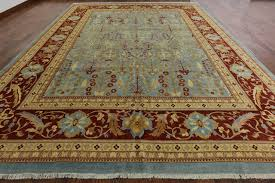 new persian ziegler mahal oriental rug hand knotted wool blue rug h6238 traditional area rugs by manhattan rugs
