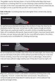 Evolv Shoe Size Chart Evolv Shoe Size Chart