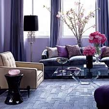 purple living room decor