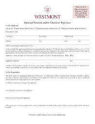 Character Reference Form Fill Online Printable Fillable Blank