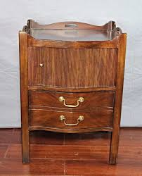 henredon natchez mahogany commode side table nightstand cabinet chest of drawers to expand