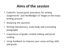 the process of writing an essay writing an essay does not simply  2 aims