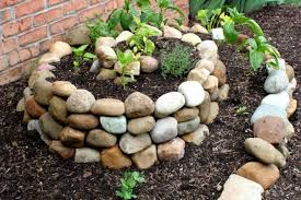 stone raised bed for small spaces backyard vegetable garden front with concrete block