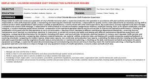 Vinyl Chloride Monomer Shift Production Supervisor Cv Cover