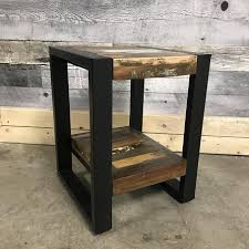 unique industrial furniture. Unique Industrial Small End Table Perfect For Lofts Furniture U