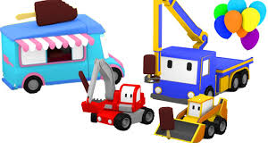 Tiny Trucks Ice Cream Truck In The Amusement Park With Tiny Trucks Bulldozer